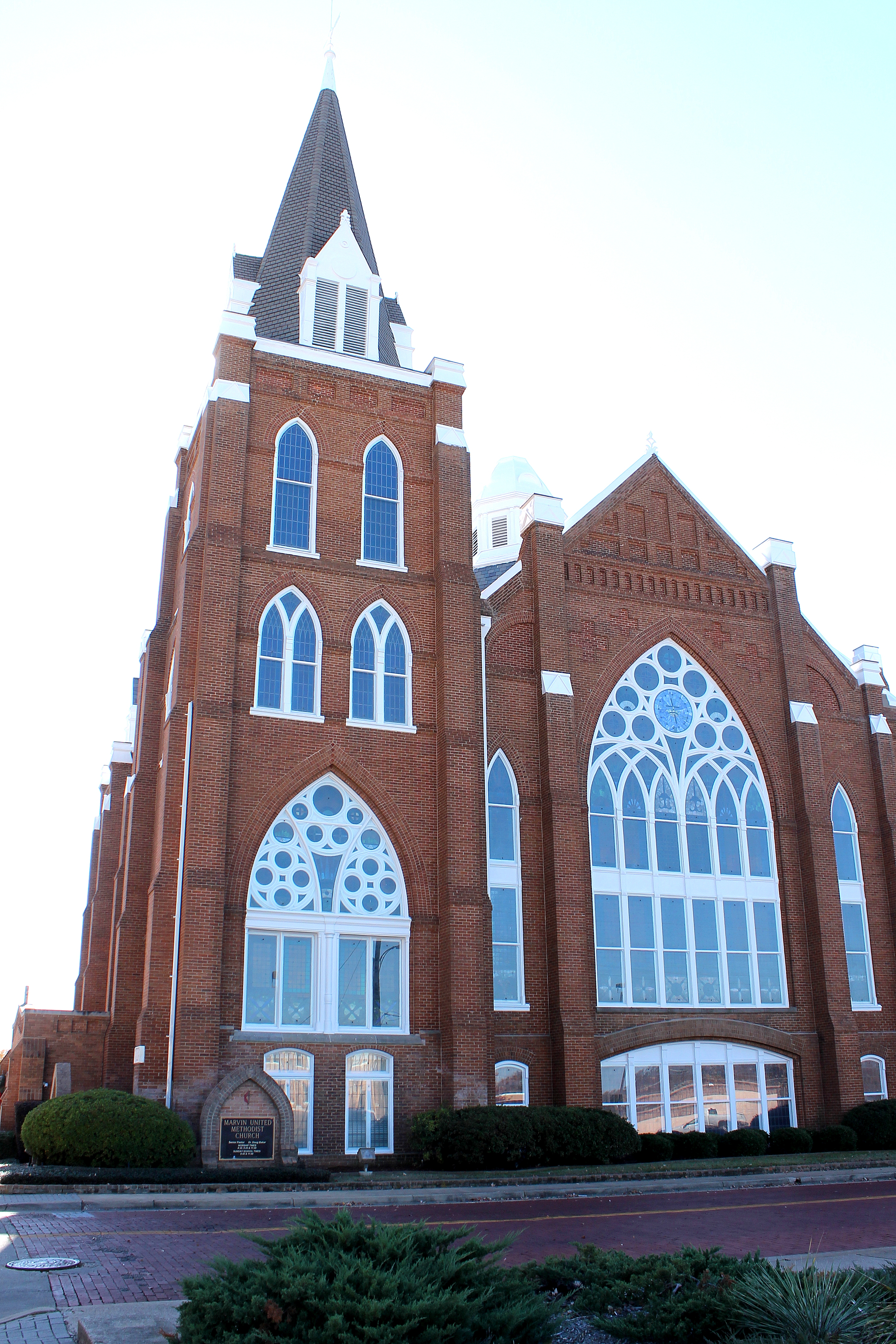 Marvin Methodist Episcopal Church serves a congregation that was established prior to the Civil War. Construction of this historic church began in 1890.