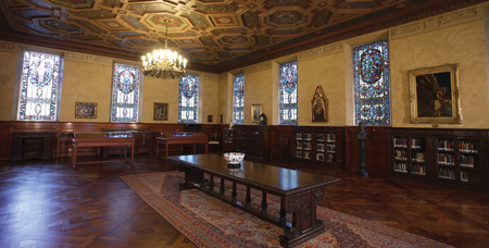 View of the library's interior