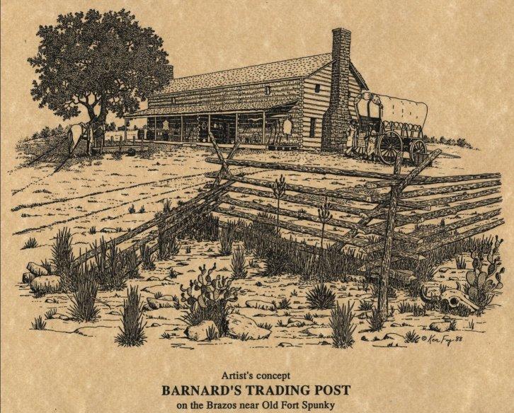 Barnard's Trading Post, artist's concept