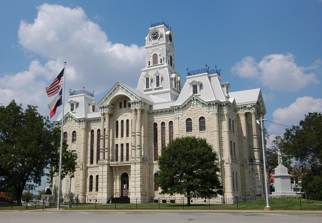 This stately courthouse was built in 1890 and designed by Waco architect W. C. Dodson.