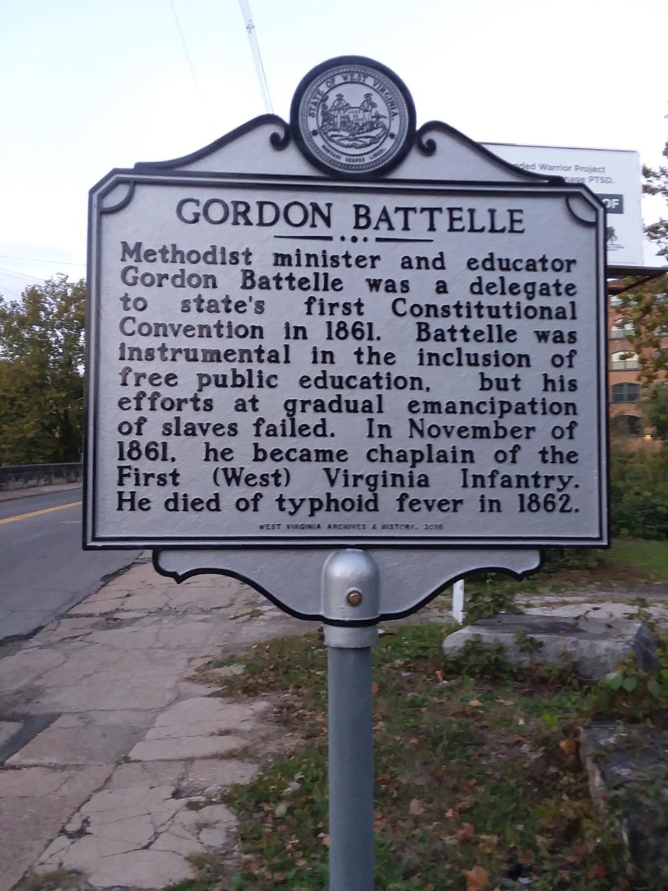 Gordon Battelle Historical Marker