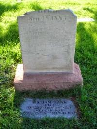 Grave of William Hawk at Salt Lake City cemetery.