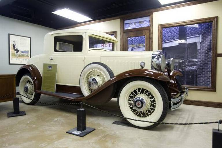 A 1930 Hupmobile, possibly sold by Homer B. Roberts, the first African American to own a car dealership