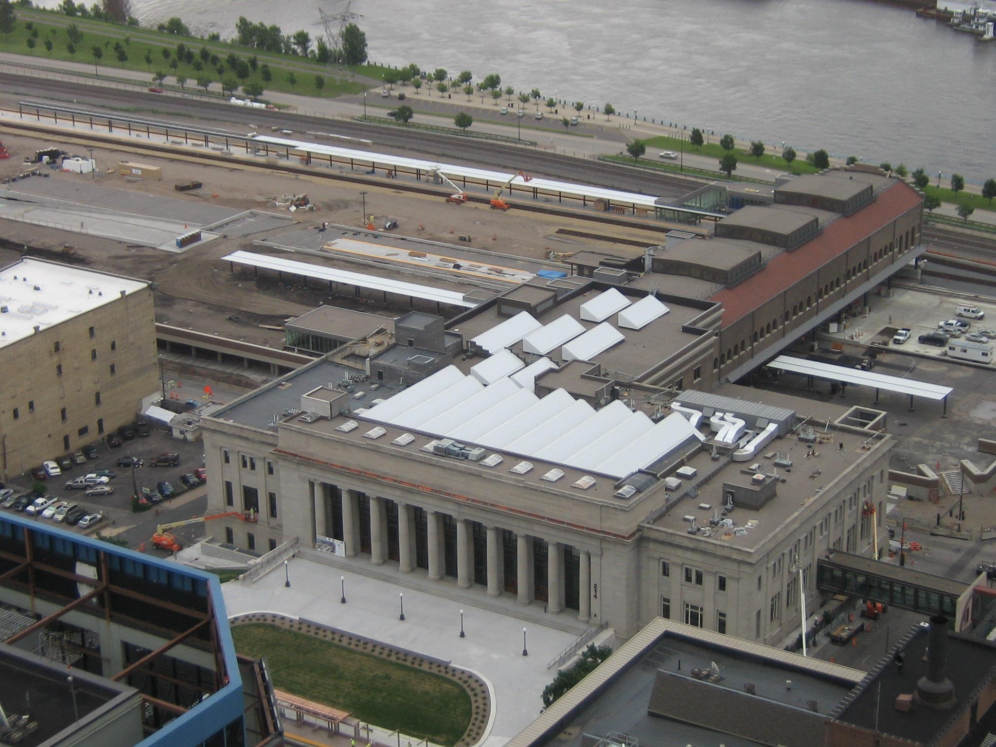 St. Paul's Union Depot was restored between 2010 and 2012.