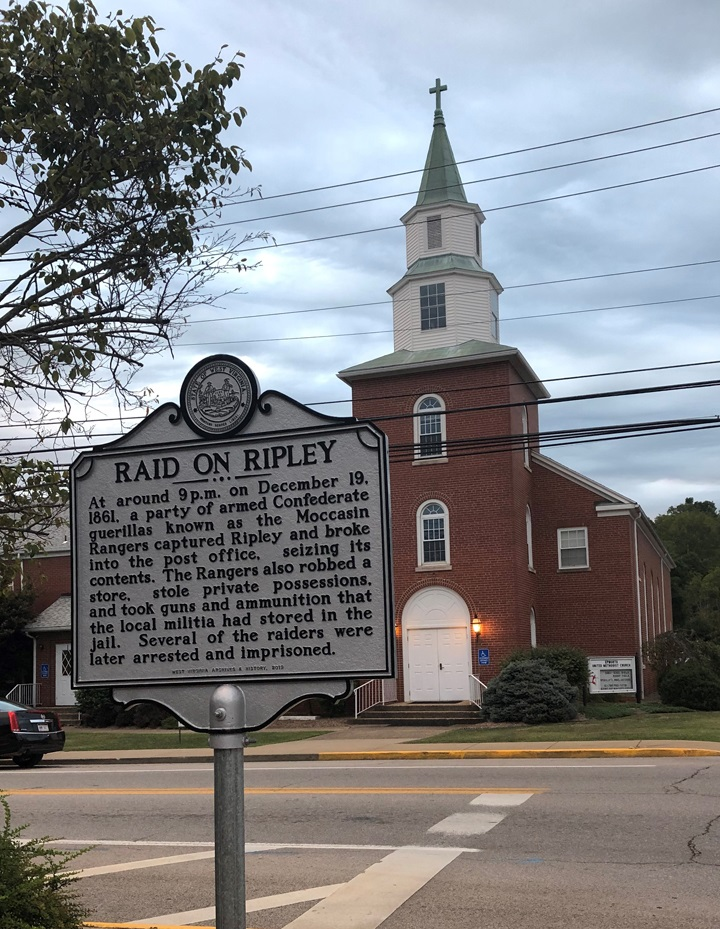 Raid on Ripley Highway Historical Marker