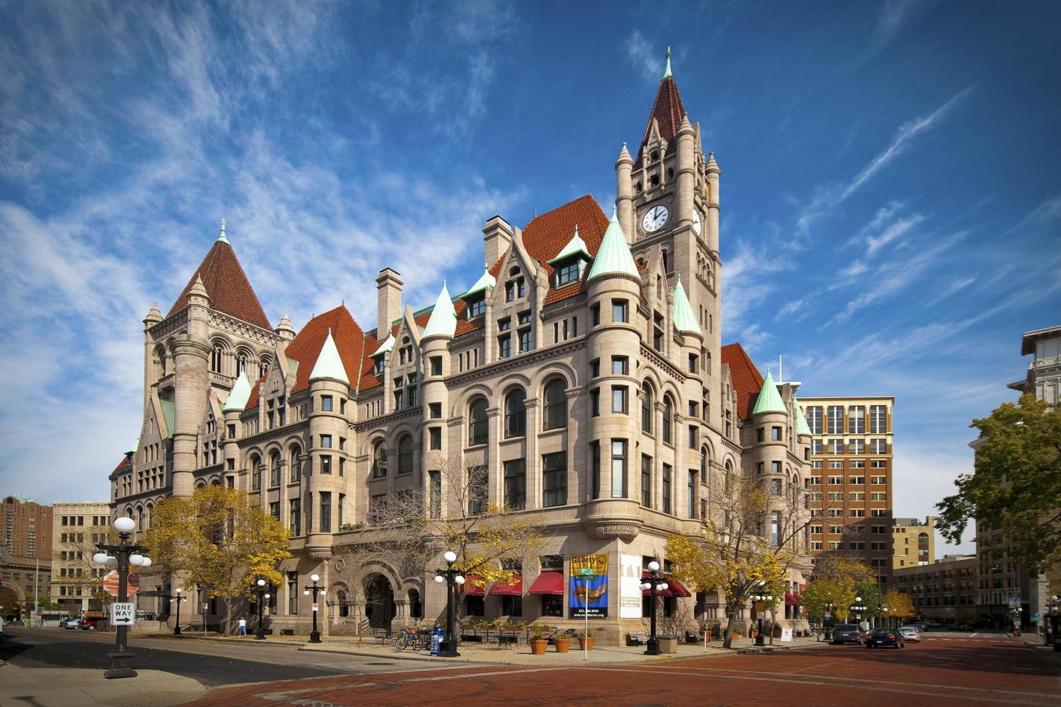 A former post office and court house, Landmark Center is now the premiere cultural hub of St. Paul.