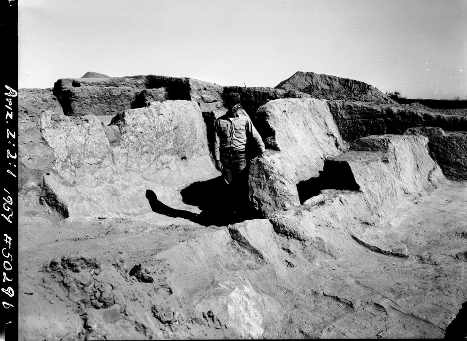 Another photo taken during the excavation of site (1958-62). Courtesy of Arizona State Museum