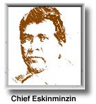 Aravaipa Apache Chief Eskiminzin. Survived the massacre but is noted in history for shooting his best friend, a white man, after having dinner with him to somehow prove peace can never exist between the two peoples.