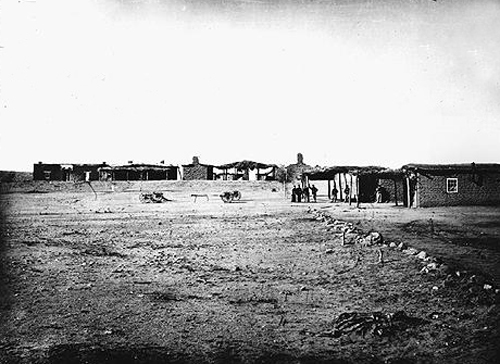 1869-1870 photo of Camp Grant. Massacre took place close to the camp.