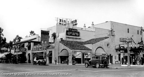 A view of the theater in 1934 courtesy of the Fox Fullerton Historic  Theater Foundation.