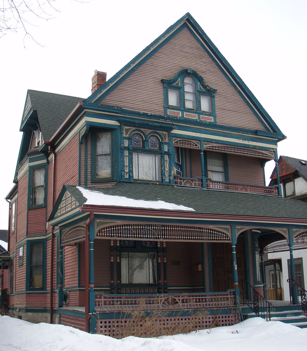 The Bennet-McBride House was built in 1891 and designed by Theron P. Healy, the master builder who constructed the other Queen Anne houses in the neighborhood.
