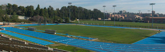 "UCLA Athletics captures the new Drake Soccer and Track & Field Stadium post 1996 revitalization in ""Facilities- Drake Stadium""."