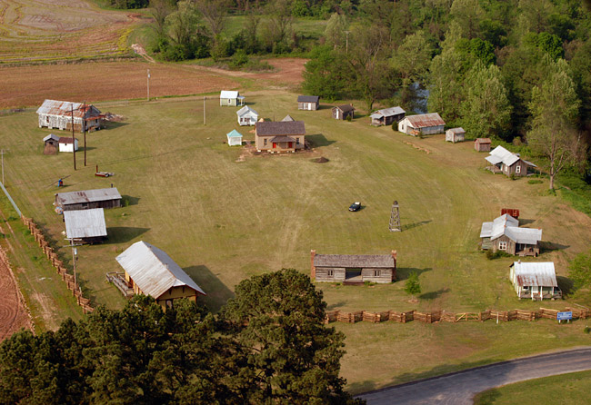 AN aerial view of the Scott Plantation Settlement