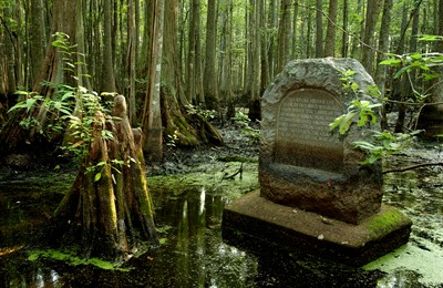 Louisiana Purchase monument in the Louisiana Purchase Historic State Park
