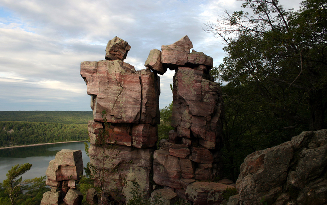 One of the famous rock formations at the park, called Devil's Doorway.