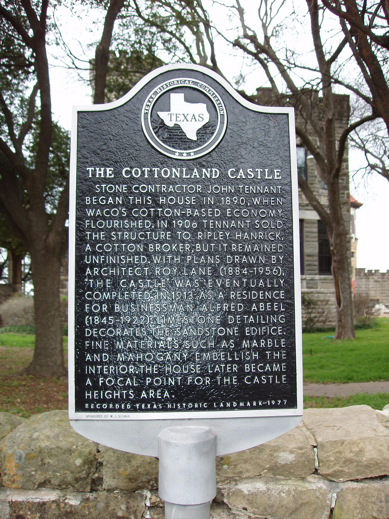 Historical Marker in front of the Castle