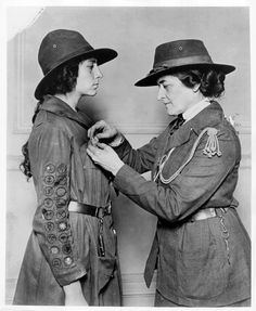 One exhibit features items associated with Juliette Gordan Low, founder of the Girl Scouts.