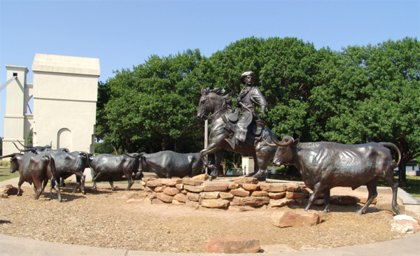 Part of the Branding the Brazos sculpture