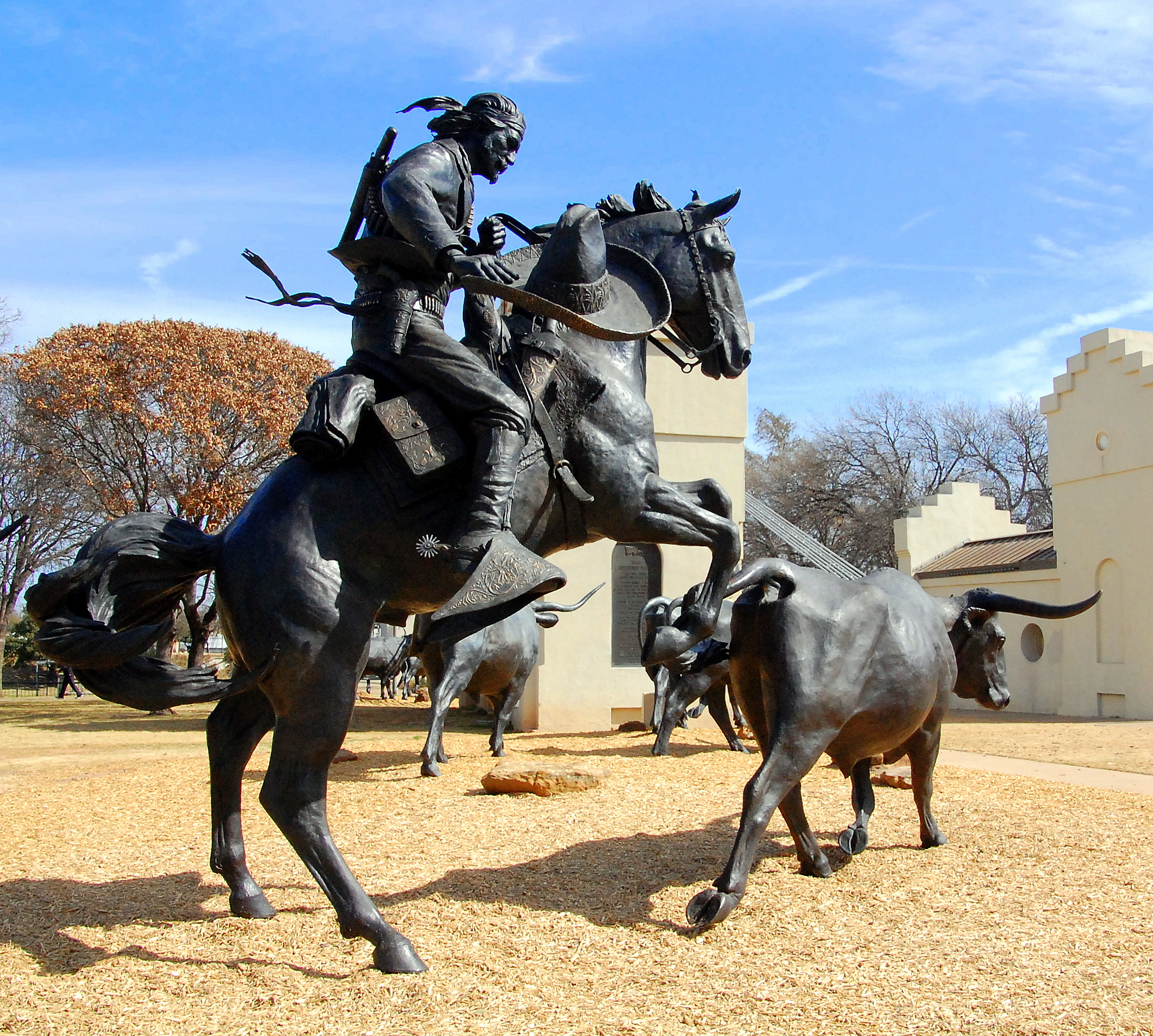 Vaquero statue in the Branding the Brazos project