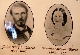 John Baylis Earle and his wife, Emma
