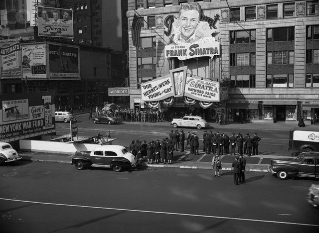 Frank Sinatra Appearing at the Paramount Theatre, 1944