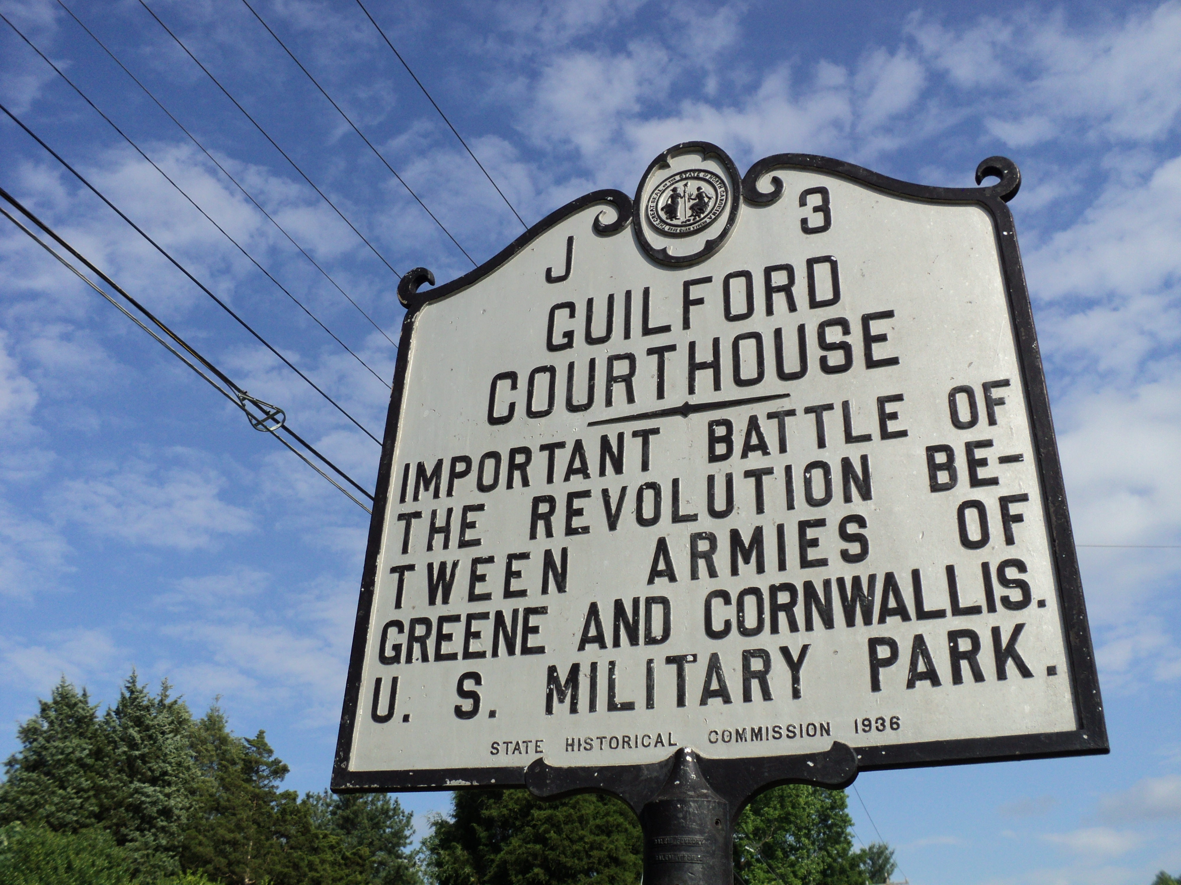 Guilford Courthouse National Military Park Sign