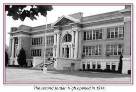 The second building to serve as Jordan HS beginning in 1914. Demolished in 1997 and site now holds a movie theater.