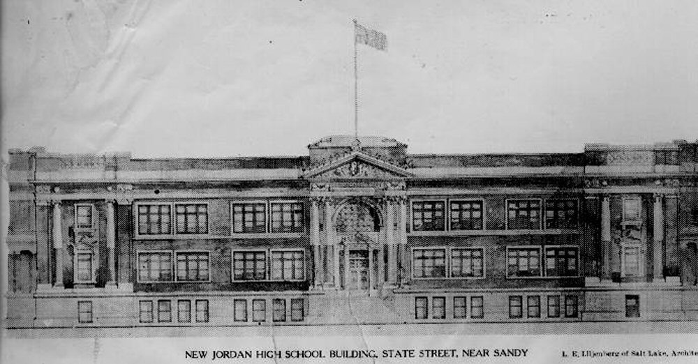 Rendering of the 1914-1997 HS building