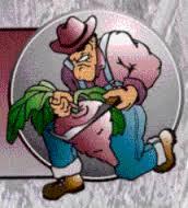 """""""Digger Dan"""" Jordan HS mascot, a.k.a The Beetdiggers"""""""