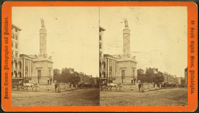 Baltimore Battle Monument, photographed by James Cremer (source: New York Public Library Digital Collections)