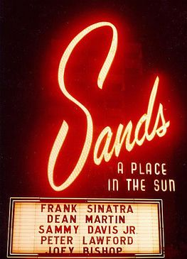 The Sands' neon road sign.