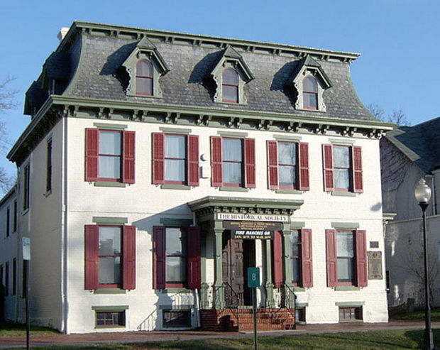 This historic home was built in 1765 and is now home to a museum operated by the Gloucester County Historical Society