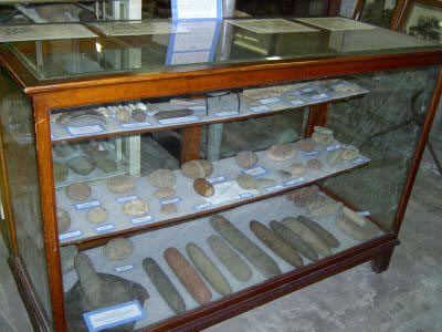 The museum offers a number of exhibits, including this collection of artifacts created by the Native inhabitants of New Jersey