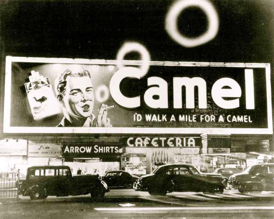 1950s billboard in Times Square