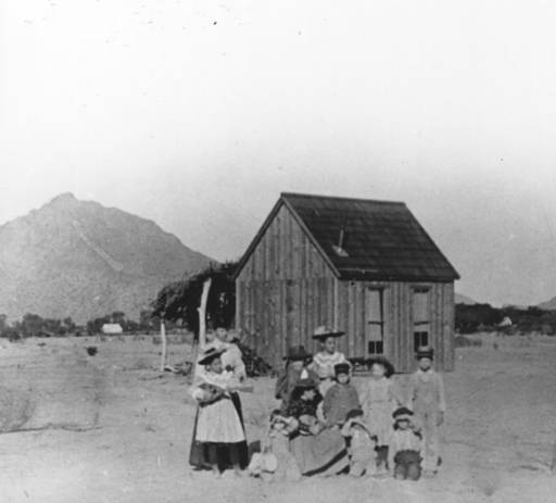 Original Little Red Schoolhouse in 1896