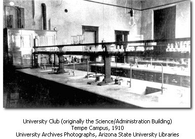 Interior of Administration/Science Building in 1910
