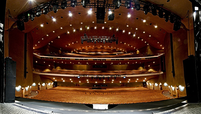 Interior of Auditorium as seen from stage. Courtesy of ASU