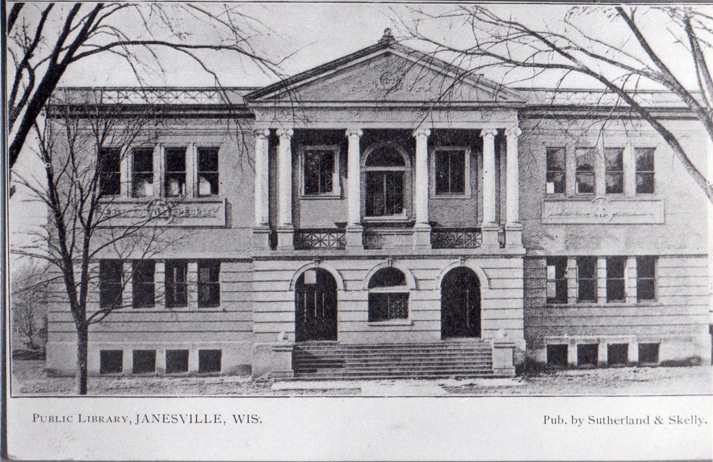 Janesville Public Library: Postcard