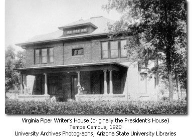 President's House in 1920. Courtesy of ASU
