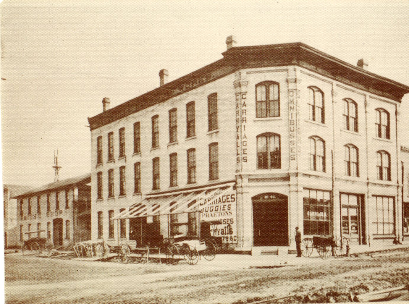 Hodge and Buchholz Carriage Factory as it once looked.