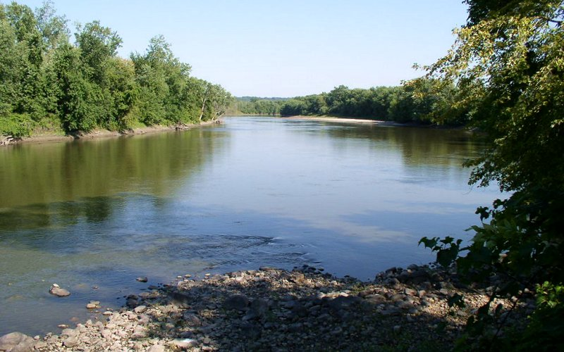 The river at Traverse des Sioux.
