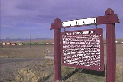 Camp Disappointment sign