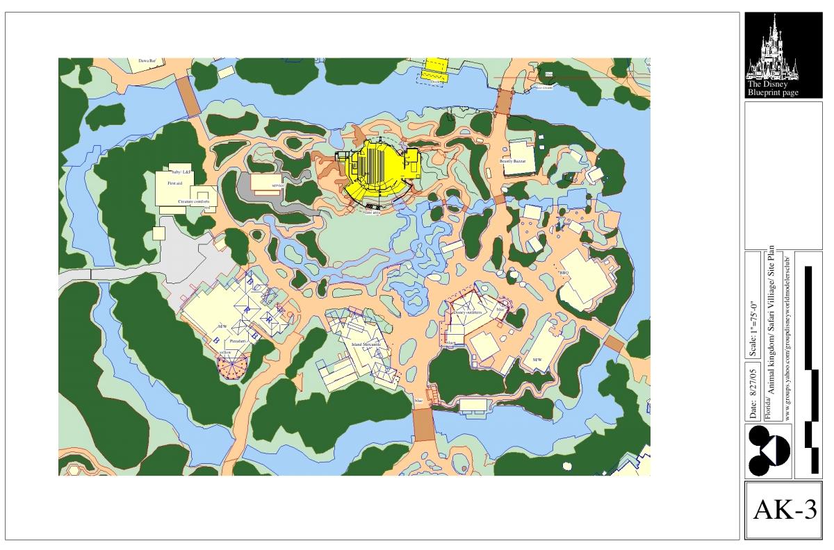 Discovery Island Blueprints