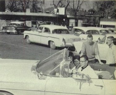 Lunch at Adkins Fat Boy Drive-In on First Street, 1960