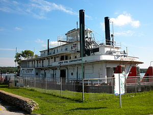 The George M. Verity museum offers tours of the historic craft and exhibits that preserve the history and culture of river transport along the Mississippi in the age of Mark Twain.