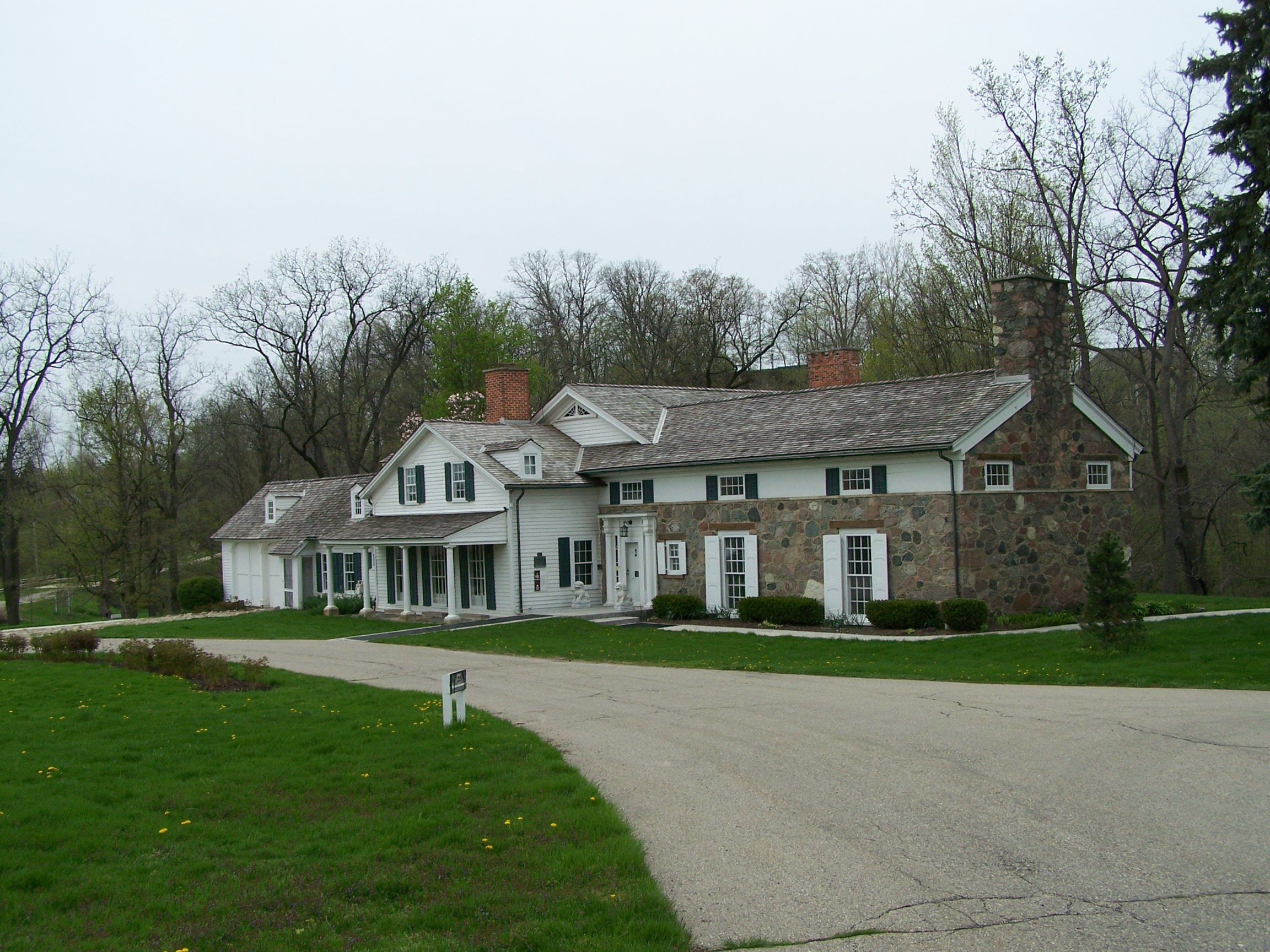 The Van Hoosen Farmhouse predates the Civil War and is listed on the National Register of Historic Places