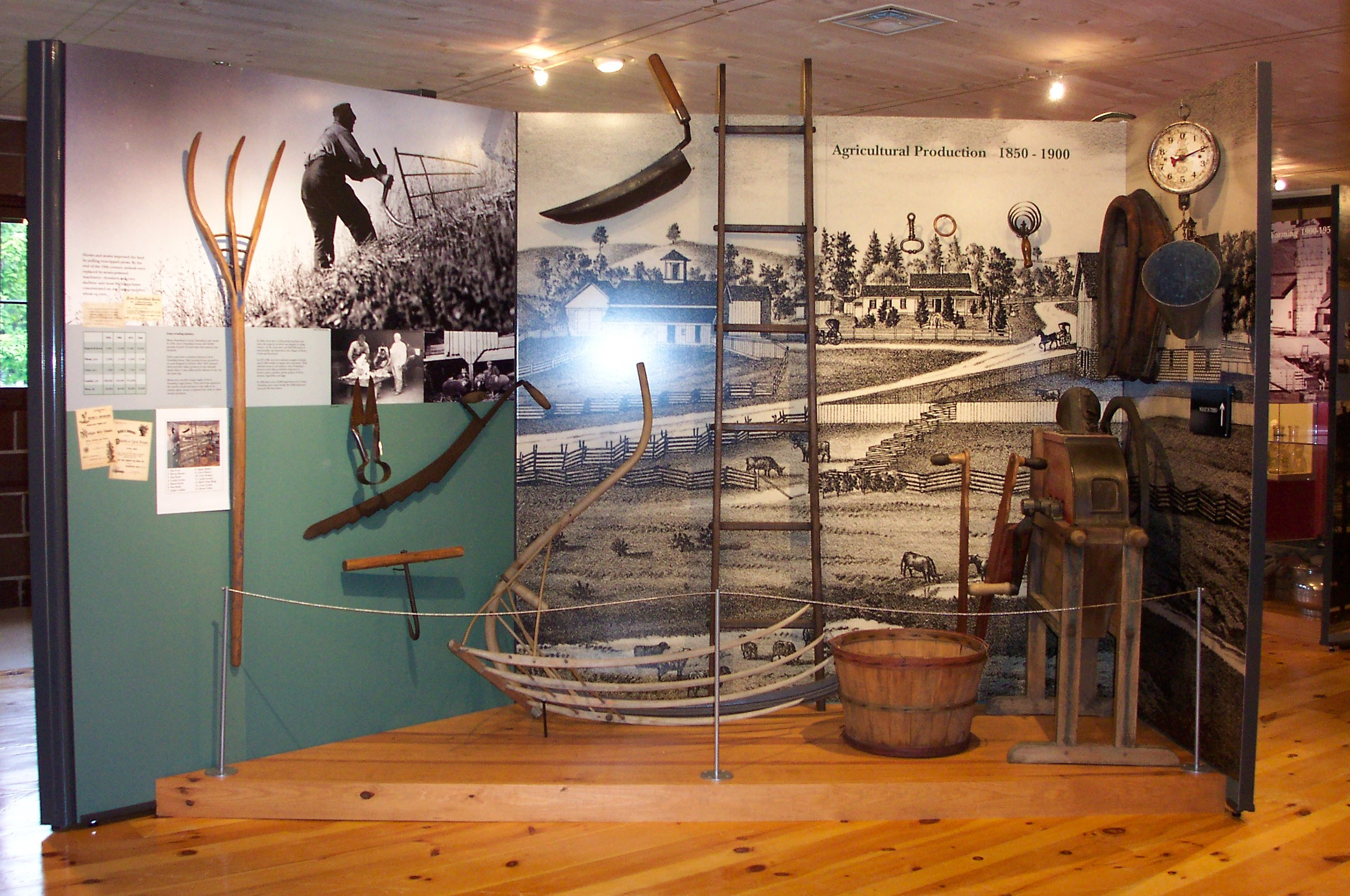 """The museum's exhibits include """"Life on the Farm: Tools and Equipment of the Trade"""""""