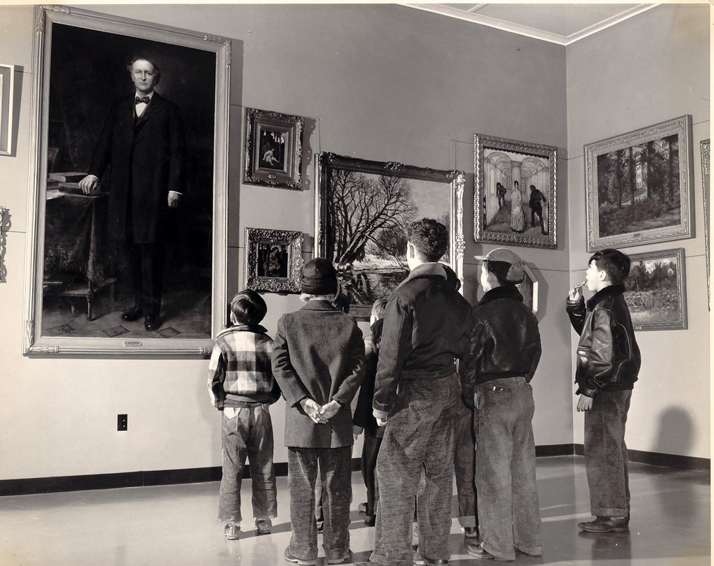 Children Visit the Frye Art Museum on Opening Day, 1952