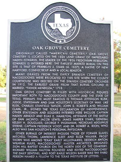 This historical marker describes the history of the cemetery.