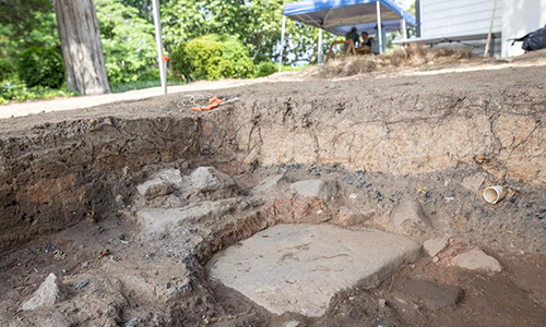 Excavation at Fort Hill